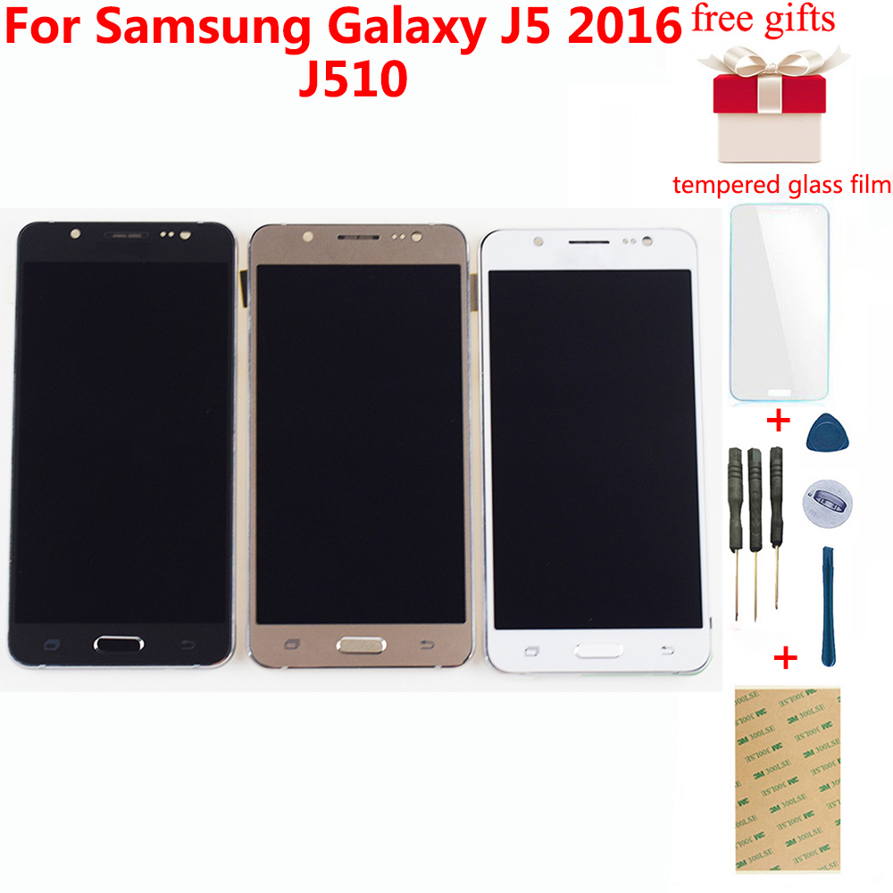 For Samsung Galaxy J5 2016 LCD SM-J510F J510G J510Y J510M J510 J510FN LCD Display Touch Screen Digitizer Assembly With Frame