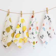 4Pcs Set Baby Towel Cotton Soft Muslin Cloth Kids Bath Stuff For Newborns Multi Use Children Wipes Bib Handkerchief