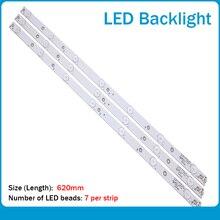 New Kit 3 PCS 7LED(3V) 620mm LED backlight strip for 32PFT4131 32PHH4101 GJ-2K16 D2P5-315 D307-V2 01N19 01N18