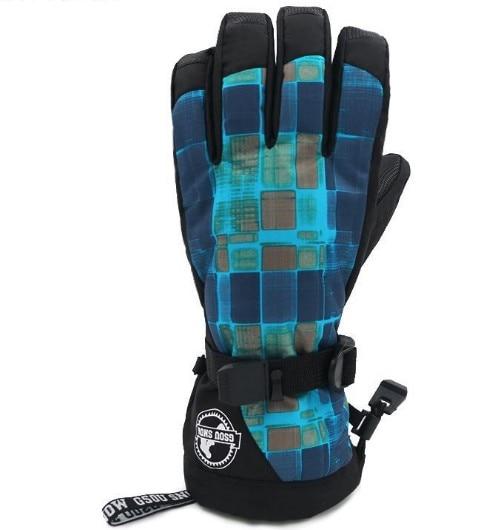 Luvas de Esqui Inverno ao ar Esportivas à Prova Masculino Grade Verde Camuflagem Quente Equitação Snowboardin Livre Luvas D10 Água 10 k