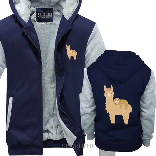 Sloth Sleeping on Llama man hoody | Cute and Adorable for Kid shubuzhi winter thick jacket coat Casual men thick hoodies sbz6169