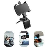 Soporte de fijación de teléfono móvil para coche, montaje de Clip para salpicadero, rotación automática de 360 grados, para IPhone