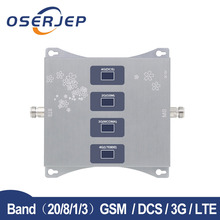 4g LTE 800/900/1800/2100 mhz zespół czterech komórkowy wzmacniacz sygnału GSM telefon komórkowy wzmacniacz sygnału 2G 3G 4G Repeater Band20/8/1/3 GSM DCS WCDMA
