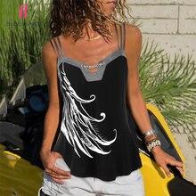 Женская футболка с открытыми плечами и принтом