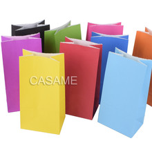 mini Kraft Paper Bags 10pcs/lot Stand Up Dot bags Child Party Birthday Food Paper Kraft Seal Gift Packing Treat Bag Supplies