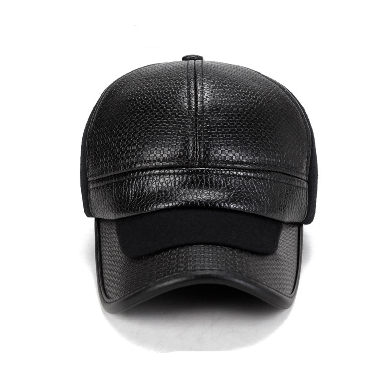 Chapeau d'hiver pour hommes,Casquette chaud avec cache oreilles