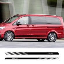 2 autocollants pour jupe de porte latérale, accessoires de voiture élégants, pour Mercedes Benz Vito W638 W639 W447, Taxi de londres Marco Polo