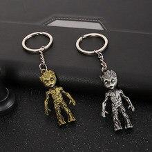 Disney Tree Man Figures Keychains Cute Model Toy Cartoon Marvel The Avengers Baby Groot Action Figure Mini Kawaii Kids Gift Toys