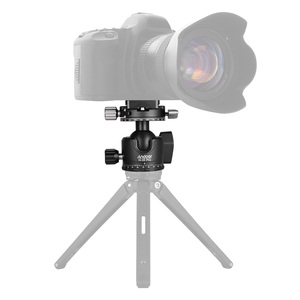 Image 2 - Andoer H 35 Pro Ball Head Tripod Mount Adapter Low Gravity Center with Dual Panoramic Scale U Groove Tripod Head for Camera