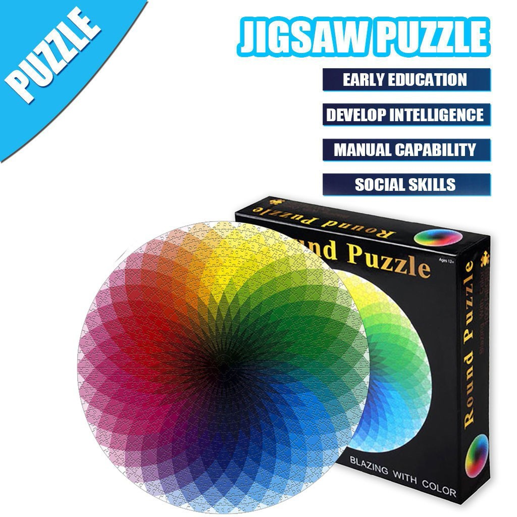 1000 Pieces Jigsaw Puzzle Children's Adult Wooden Puzzle Intelligence Educational Game Toys kids Jigsaw Puzzle toys Stickers 8