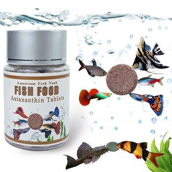 Comprimido de alimento para peces con astaxantina y espirulina, suministro alimenticio para...