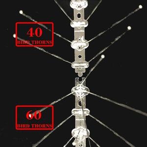 Image 4 - רצפת אתחול 1 12M ציפור repeller פלסטיק נירוסטה ציפור spikes אנטי ציפור/יונה הדברה ציפור דוחה אספקת גן