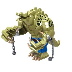 Big Size Crocodile Killer 10.5cm Cartoon Figure Batman Model Building Block For Children Construction Technic Bricks Toys Gifts