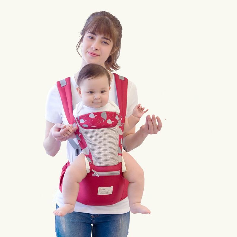 Baby Carrier Ergonomic Newborn Infant Breathable Ergonomic Adjustable Wrap Sling Backpack Kangaroo Sling For Baby Travel