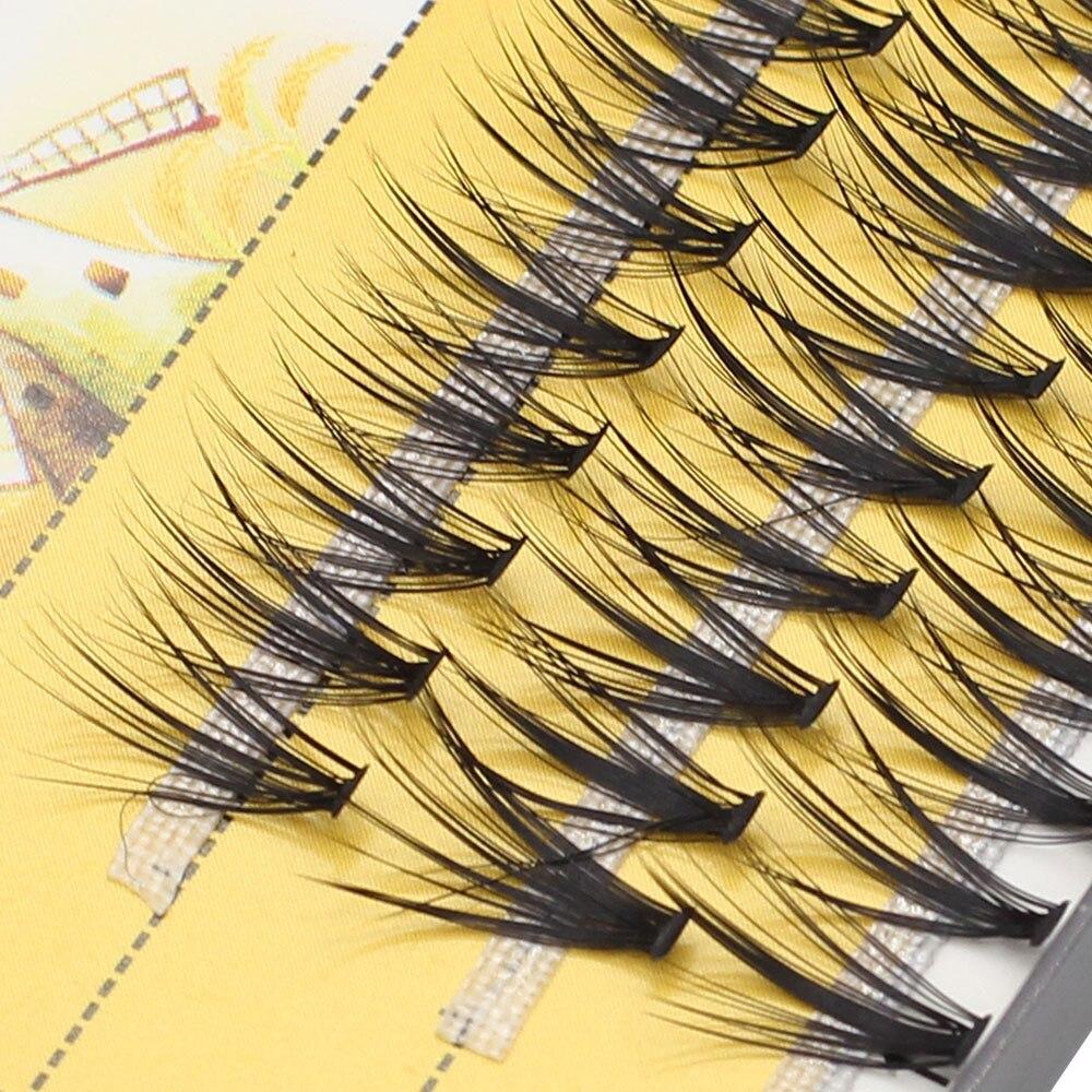 Шикарпряди натуральных индивидуальных ресниц для наращивания, профессиональные объемные ресницы с эффектом 3D, Кластерные ресницы для маки...