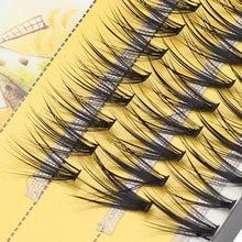 Chique pacotes naturais individuais cílios extensão profissional efeito de volume 3d falso cílios cluster cílios maquiagem cílios