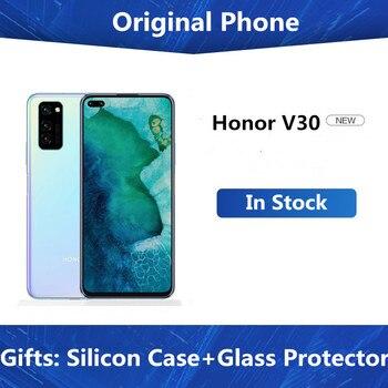 "DHL szybka dostawa Honor View 30 Honor V30 5G telefon komórkowy Kirin 990 Android 10.0 6.57 ""FHD 8GB RAM 128GB ROM 40.0MP 5 kamer"