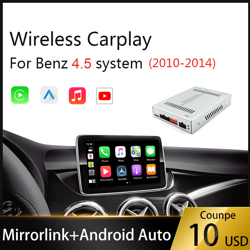 Wireless Carplay Android Auto Multimedia Smart Car Retrofit for Mercedes Benz /NTG4.5 GLA A GLC C B E CLS GLE GL Car play Mirror image