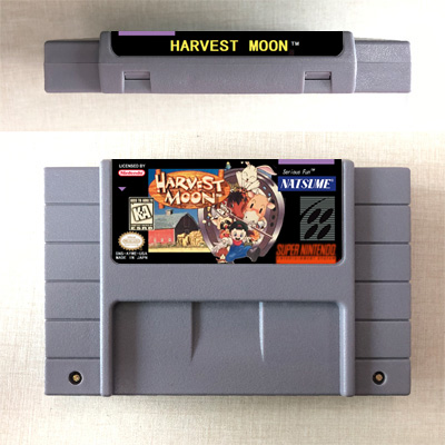 Harvest Moon - RPG Game Card US Version English Language Battery Save