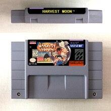 Harvest Moon tarjeta de juego RPG, versión estadounidense, batería para guardar en inglés