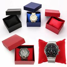 Zegarek Box stojak na biżuterię do prezentowania przechowywania biżuterii zegarków pudełko typu Organizer pudełko na prezenty etui na bransoletkę bransoletka kolczyk biżuteria Dropshipping tanie tanio DRESS Mieszane materiały Presentation Box (Single) 83*78*52mm Blue Red Black