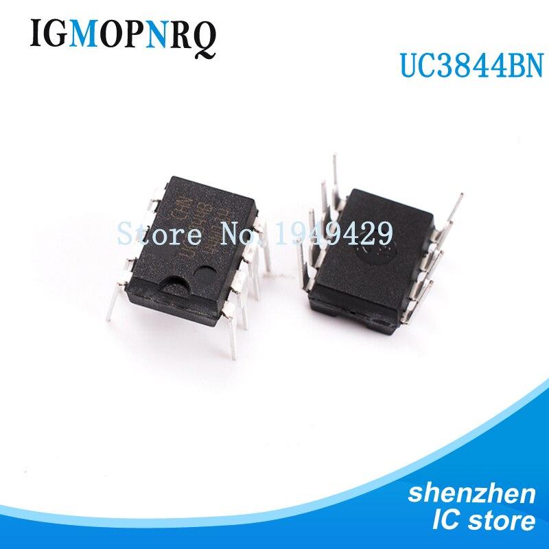 10 pz UC3844B DIP8 UC3844BN UC3844 Switch controller 0.5mA modalità corrente nuovo