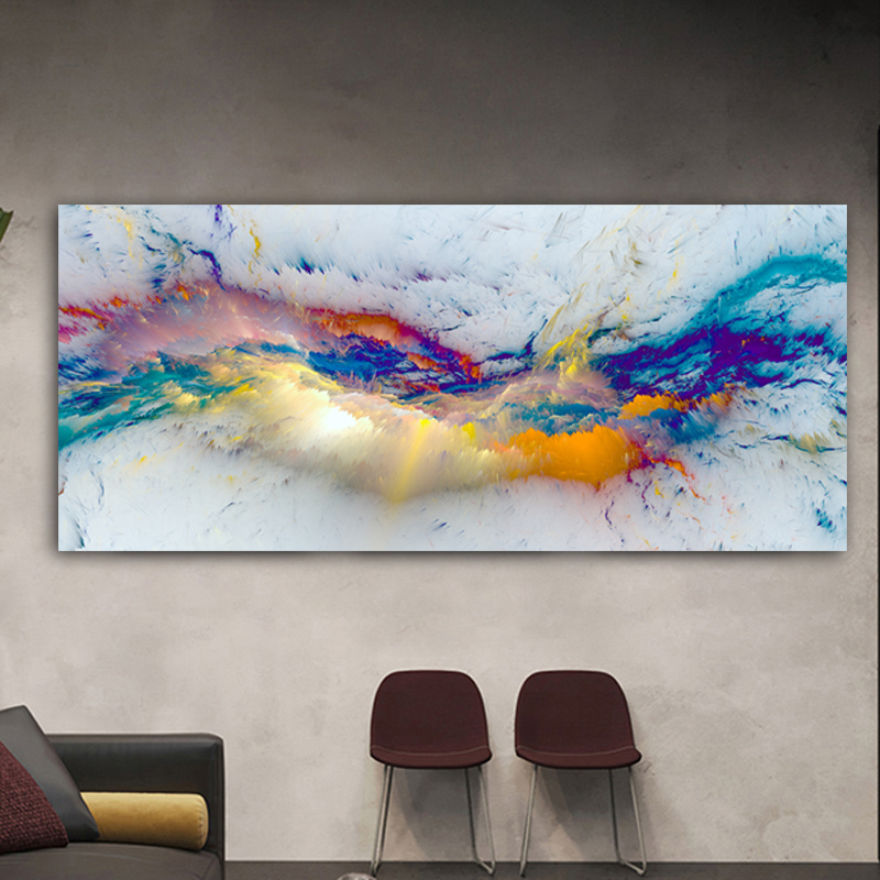 Wangart nice Cloud Abstract Oil Painting Think Independe Wall Picture For Living Room Canvas Modern Art Poster And Print