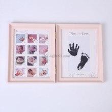 Yenidoğan bebek el ayak mürekkep pedi baskı bebekler tam ay yaşı büyüme fotoğraf çerçevesi bebek hediye çocuk doğum günü hediyesi