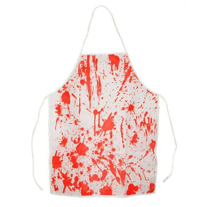 Non-woven Bloody Apron Halloween Plays Chef Cook Creative Horror Character Cosplay Game Props 95AE image