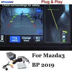 Liandlee parkowania samochodu interfejs kamery cofania kamera cofania zestawy dla Mazda 3 BP 2019 w Kamery pojazdowe od Samochody i motocykle na