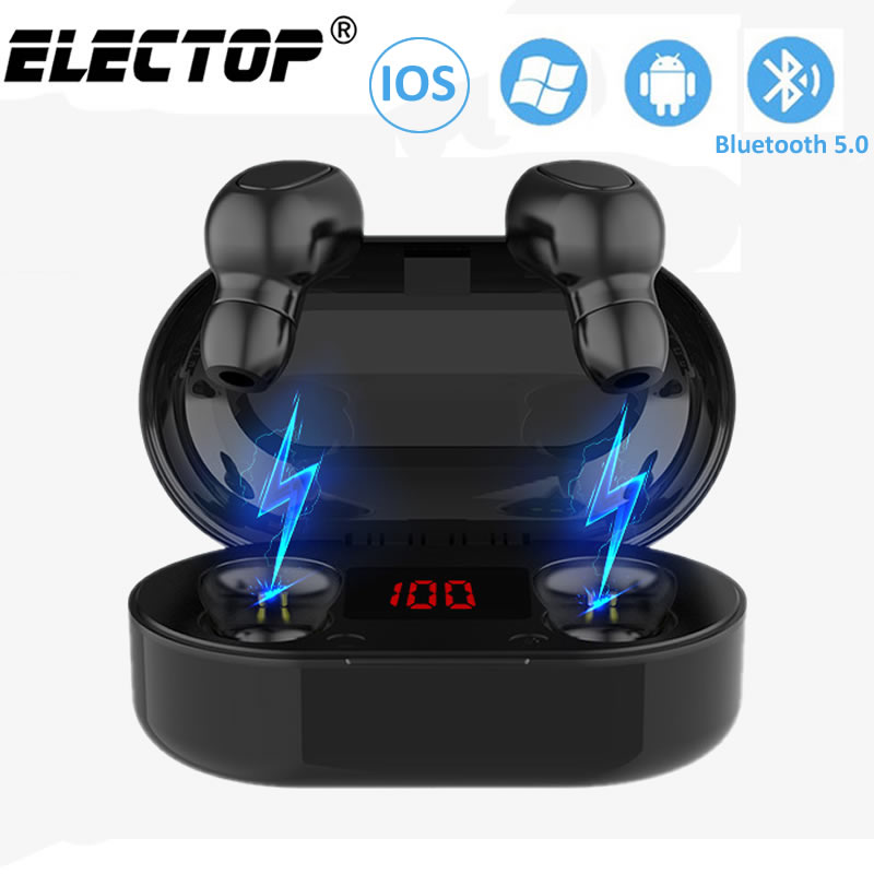 TWS Bluetooth Earphone With Microphone LED Display Wireless Bluetooth Earbuds Earphones Waterproof Noise Cancelling Headsets