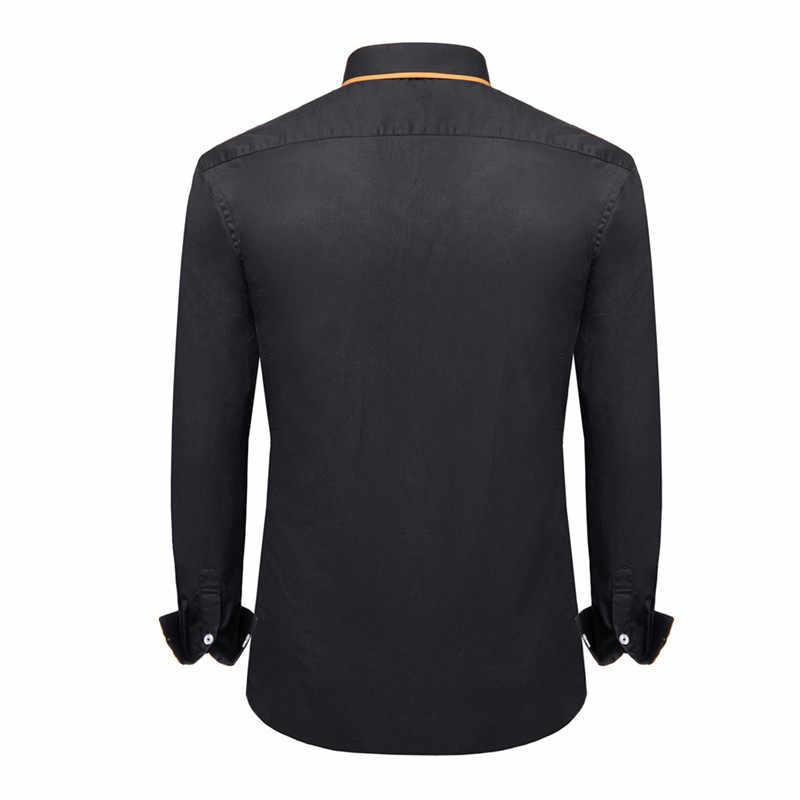 11.11 Flash Deal 100% Kapas Pria Kemeja Lengan Panjang Kemeja Kasual Pria Jahitan Formal Bisnis Pria Kemeja Slim Fit Desainer gaun