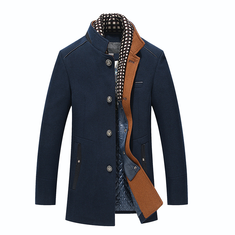 New Wool Coat Men Overcoats Topcoat Mens Single Breasted Coats Jackets Male Winter High Quality Wool Casual Trench Coat Man