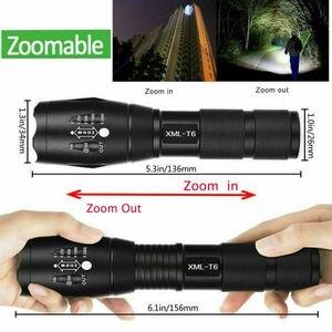 Image 4 - LED lampe de poche Rechargeable Abay XML T6 linterna torche 18650 batterie 5 Modes étanche Camping en plein air puissant lampe de poche Led