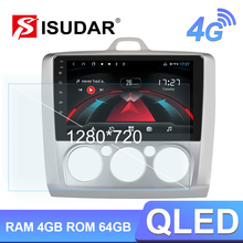 Isudar H53 4G Android 1 Din Auto Radio Für Ford/FOKUS 2004-2011 Auto Multimedia GPS 8 core RAM 4GB ROM 64G Kamera USB DVR IPS DSP