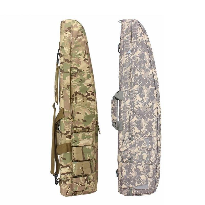 Bolsa de Caça Militar Airsoft Rifle Tiro Arma Bolsa Camo Scoped Case Macio Acolchoado Transporte Armazenamento Acessórios