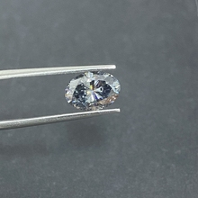 Grown Stones Diamond Moissanite-Lab Loose Size-Grey VVS Oval Cut Big GRA 5--7mm