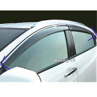 For Honda HRV HR V Vezel 2019 2020 Car body styling Stick lamp plastic Window glass Wind Visor Rain/Sun Guard Vent 4pcs