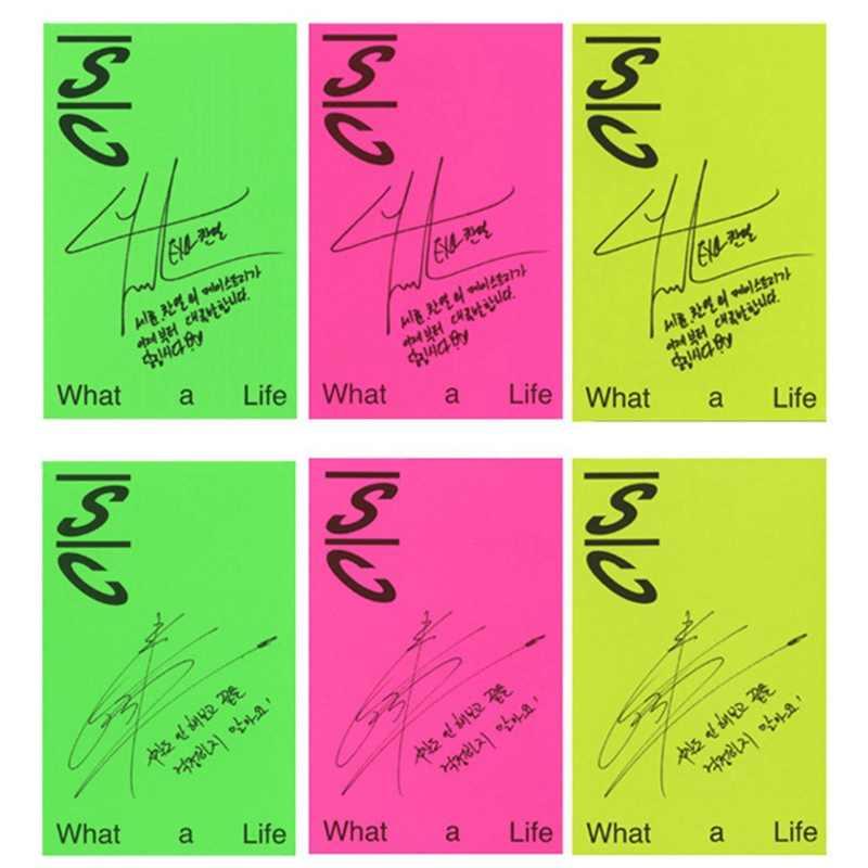 EXO SC Mini 1 Kehidupan Nyata Pu Canlie Wu Shixun 'S Homemade Tanda Tangan Set Kartu Kartu