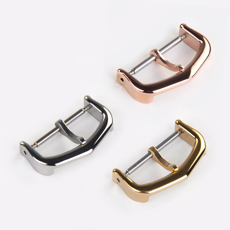 5pcs/lot 316 Stainless Steel Watch Buckle for Cartier Watch Replacement Clasp Wholesale Gold Silver Rose 12mm 14mm 16mm 18mm