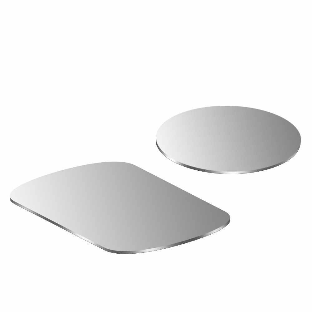 Manyetik araç telefonu tutucu Metal plaka 0.5mm manyetik demir sac Metal Disk mıknatıs hava firar dağ aracı telefon tutucusu standı