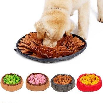 Juguetes para perros redonda para mascotas, almohadilla para olfatear, manta de entrenamiento lavable, Alfombra de alimentación, juguetes de perro de colores múltiples