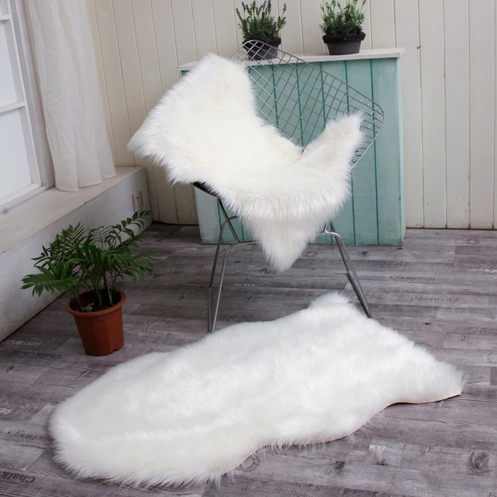 60 X120 Cm Faux Fur Sheepskin Style Rug Faux Comfortable Soft Useable Wool Blanket For Bedroom Sofa Floor Throw Blanket