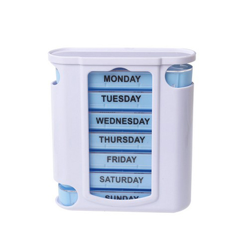 28 Grid Large Storage Portable Weekly Case Plastic Splitter Pill Box Organiser Daily Compartments Drawer Medicine Moisture Proof