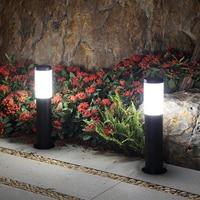 ソーラーledライト円筒風景ランプ芝生黒柱ガーデンデコレーションライト屋外グラウンドランプストリートパスパティオ