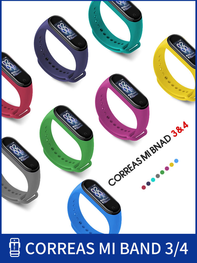 Wristband Strap Strap-Accessories Bracelets Replacement Xiaomi Silicone for 4 3