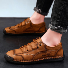 Casual Shoes Men Summer Fashion High Top Leather Sh