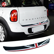 1 Pc Union Jack Car Trunk Rear Bumper Sticker Sill Protector Plate Rubber Cover Guard Trim For MINI Countryman R60 Accessories стоимость