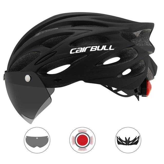 Cairbull ultraleve ciclismo capacete da bicicleta capacete in-mold com viseira mtb estrada de corrida capacete da bicicleta equitação tampa segura casco ciclismo 1