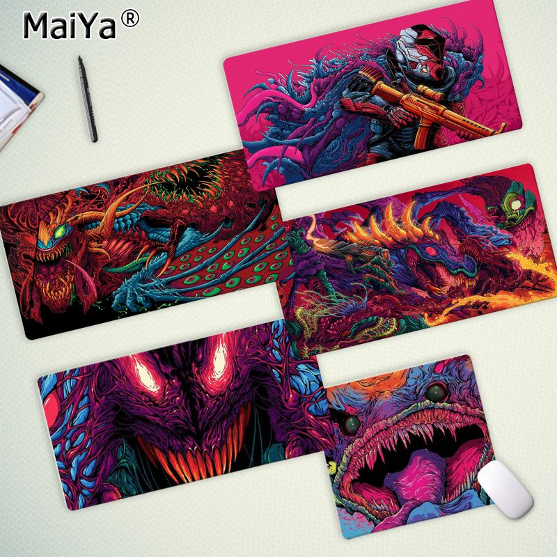 Maiya Custom Skin Games CS GO Hyper Beast Gaming Player Desk Laptop Rubber Mouse Mat Free Shipping Large Mouse Pad Keyboards Mat